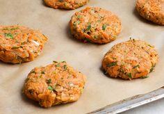 Fettarme Kohlrabi Karotten Puffer