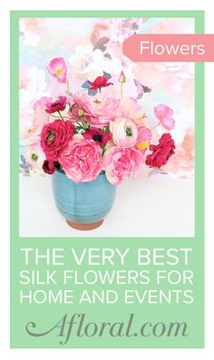 Create lasting floral arrangements with high-quality artificial flowers from Afloral.com.