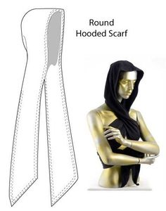 Kevlar or Nomex hooded scarf
