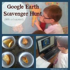 Visit places around the world with your kids on a Google Earth scavenger hunt. Make a journal of your discoveries and a treat to celebrate y...