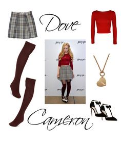 """""""Dove Cameron"""" by fruitopia5 ❤ liked on Polyvore featuring Olgana, Nasty Gal, WearAll, Burberry, Journee Collection, cameron, dove, dovecameron and outfit3outof3"""