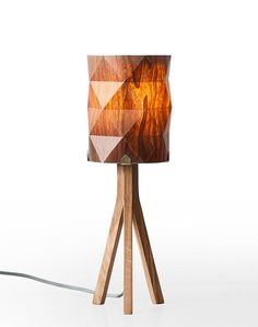 handmade veneer lighting high end design table by arielzuckerman