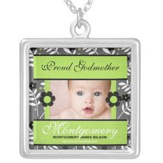 Shop OBSOLETE: Proud Godmother Personalized Photo Silver Plated Necklace created by PersonalExpressions. Personalize it with photos & text or purchase as is! Sterling Silver Necklaces, Jewelry Necklaces, Etsy Jewelry, Godmother Gifts, Sentimental Gifts, Fashion Necklace, Wedding Gifts, Gifts For Her, Photo Gifts