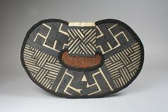 Africa | Mangbetu people, DR of Congo | Women's Back Apron  | Before 1950 |  Banana leaves and raffia cordage