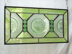 Vintage Stained Glass Panel Valance with 1930s by HeritageDishes, $89.95