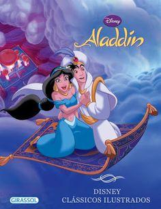 No Dia das Crianças, tietagem explícita e incontrolável sobre um dos meus desenhos, Princesa, Diamante Bruto, Gênio, bichinhos, cantoria, ou seja, TUDO favorito de todos os tempos. No Literatura de Mulherzinha: Aladdin, Disney Clássicos Ilustrados, Editora Girassol - http://livroaguacomacucar.blogspot.com.br/2016/10/cap-1259-aladdin-disney-classicos.html
