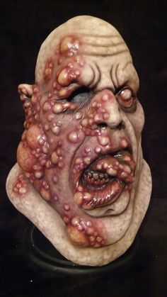 Blister Fat Zombie, Latex Mask, Horror, Halloween, Haunt, Collectible.