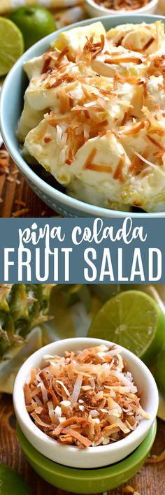 This Pina Colada Fruit Salad is the perfect taste of summer! Made with just 5 ingredients and ready in 10 minutes, this salad is ideal for summer picnics, parties, or lazy days by the pool!