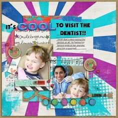 It's Cool to visit the dentist! My little grandson really loved his dentist!  She was very kind, and had special treat for them.   I used the new collab bundle from Studio Basic and Digilicious Designs called Live Louder found here: http://www.sweetshoppedesigns.com/sweetshoppe/product.php?productid=29112&cat=700&page=2 and a template from Aprilisa's Picture Perfect # 82 pack which is currently bundled into her grab bag number 17
