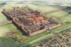 Rudchester Roman Fort on Hadrian's Wall by Mike Ritchie