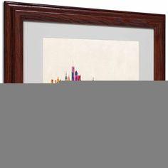 Trademark Fine Art New York, New York by Michael Tompsett, Wood Frame, Size: 16 x 20, Multicolor
