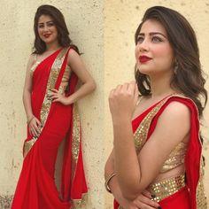 0d95a12fb5c Beautiful Red Partywear Sraee  saree  bollywoodsaree  sari  designersaree   partywearsaree  YEBOIndia