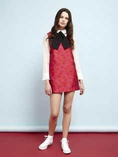 Candy Apple Pinafore Dress by Sister Jane