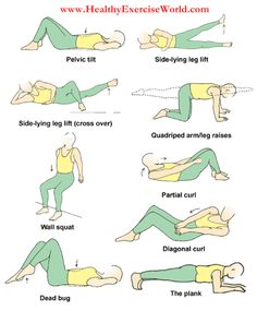 Great exercises to stretch and strengthen your lower back and help increase your core muscles that support the lower back.