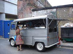 Cwtch Coffee Citroen H Van Citroen Van, Citroen Type H, Mobile Cafe, Mobile Shop, Mini Camper, French Classic, Classic Cars, Mobile Catering, Food Vans