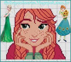 Princess Anna  - Frozen pattern by Dinha Ponto Cruz