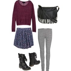 skirt and combat boots Skirts With Boots, Everyday Outfits, Combat Boots, Women Wear, Museum, Shoe Bag, My Style, Lady, How To Wear