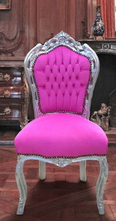Hot Pink & Silver Chair