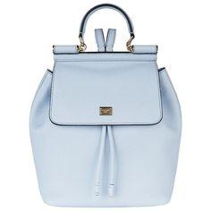 Dolce & Gabbana Sicily Backpack found on Polyvore featuring bags, backpacks, knapsack bags, dolce&gabbana, backpack bag, shoulder strap bag and blue bag