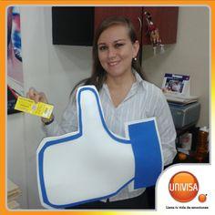 Ella gano por ser fan de UNIVISA en Facebook