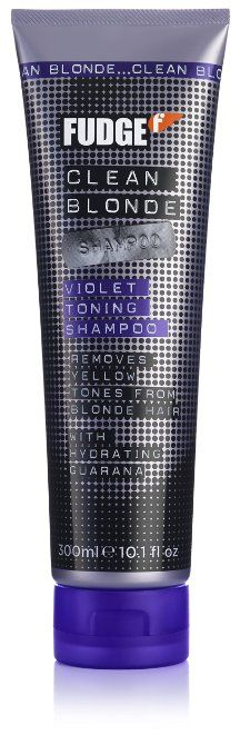 Fudge Clean Blonde Violet Toning Shampoo (Removes Yellow Tones From Blonde Hair) 300ml