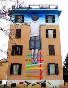 La curiosité n'est pas toujours un vilain défaut... / Street art.