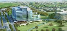 York Region is moving forward with plans to build an eight storey headquarters at the corner of Yonge Street and Eagle Street in Newmarket. Yonge Street, Marina Bay Sands, Golf Courses, York, How To Plan, Mansions, House Styles, Building, Travel