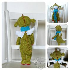 DIRK the dragon made by passionspatincou / crochet pattern by lalylala