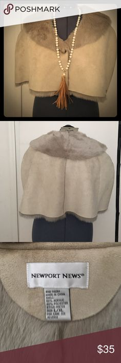 Short cape Old fashioned fur lined cape never worn NWNT price is firm New port News Jackets & Coats Capes
