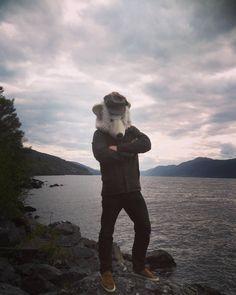 Sherlock Paulie Looking for Nessy. #lochness #pauliebeer #nessy #scotland #sherlock
