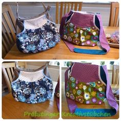2x Tasche Claire, links: upcycling -> Rock trifft Hose :-)