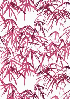 KYOTO LEAVES, Fuchsia, AT9872, Collection Nara from Anna French Anna French, View Wallpaper, Chinoiserie Chic, Japanese Architecture, Japanese Design, Watercolor Techniques, Nara, Natural World, Kyoto