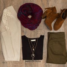 Enchanted Embrace Knit Scarf - Burgundy
