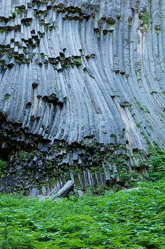 Geologic pipe organ on the South Puyallup trail, Klapatche Park, WA