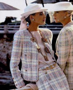 Inès de la Fressange in advertisement for Chanel 1983. Photo by Helmut Newton.