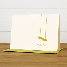 Personalized Stationery / Personalized Stationary - SWING Custom Note Card Set