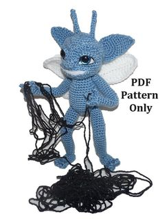 Harry Potter Blue Cornsh Pixie - Trix the Pixie (Crochet Pattern Only) - Someone needs to make me one of these...@Sarah Walters
