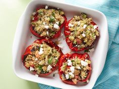 Quinoa and Vegetable Stuffed Peppers recipe from Rachael Ray via Food Network