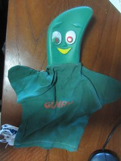 Vintage 1965 Gumby Original Hand Puppet Lakeside Toys 1965 made in Japan