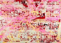 """Mark Bradford """"Promise Land"""" 2012. He repurposes posted bills in his collage/decollage."""