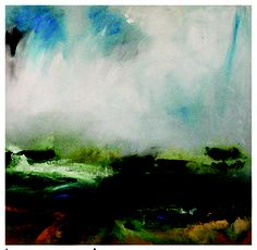 "'Ballinskelligs, Late Winter' """" X This painting came to life on a cold January day on Reen strand – just outside of Ballinskelligs. It was freezing – I was on the beach alone painting it on my hands and knees and I was in heaven! Irish Landscape, Abstract Landscape, Abstract Painters, January, Heaven, Hands, Painting, Cold, Artists"