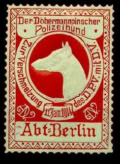 1914 doberman stamp!!!