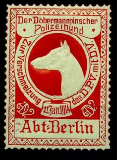 1914 doberman stamp!!!