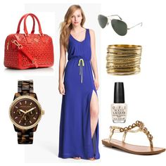 Need some outfit inspiration for Spring Break next week? We're loving this red & blue look.