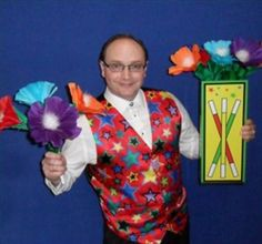 LEARN how to do #magic with #FLOWERS. Comes complete with clown nose, squeeker cloth and Tommy's full 5-1/2 minute routine