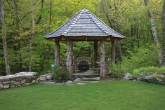 Natural Log Wood Gazebo - traditional - porch - new york - by Fairfield House & Garden Co