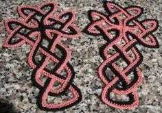Celtic cross in crochet ~ TrishKDesign