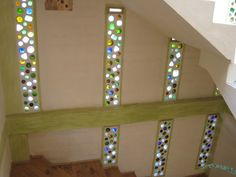 Bottle wall. These have a stained glass feel to them.