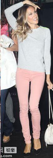 Sarah Jessica Parker(SJP) in pink jeans