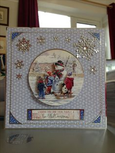 Christmas Card x makings from Hunkydory Deco Large Collection Christmas Cards 2017, Christmas Card Crafts, Christmas Past, Christmas Deco, Xmas Cards, Crafters Companion Christmas Cards, Hunky Dory, Snowman Cards, The Night Before Christmas
